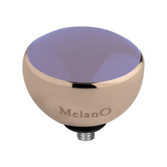 Melano Twisted resin Meddy - dames - rosegoldplated + lavender resin - 6mm