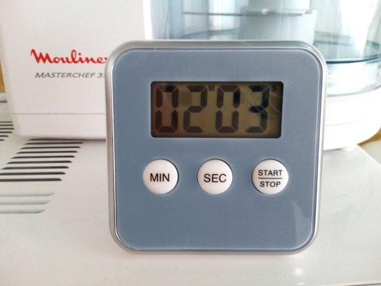 Premium Grijze Magnetische Kookwekker Inclusief Standaard + Gratis Batterij | Digitale Kook Wekker Grijs | Magnetische Achterkant