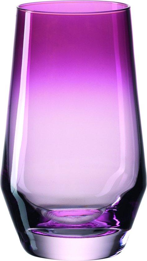 Leonardo Puccini - Longdrinkglas - violet - 6 stuks