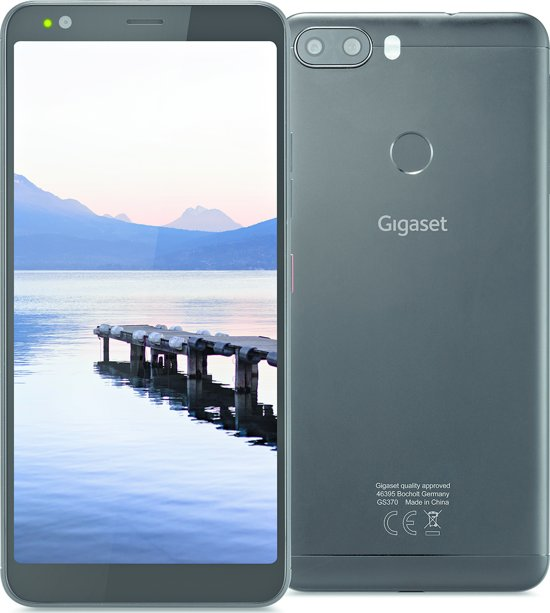 Gigaset GS370 - 32GB - Dual Sim - Zwart