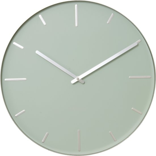 Karlsson beltmint klok rond metaal 40 cm groen - Moderne klok ...