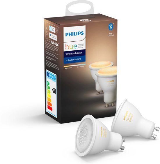 Philips Hue GU10 Duo Pack - White Ambiance - Bluetooth