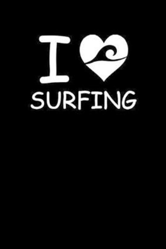 I Surfing: Surfing Notebook Surfer Notizbuch Surf Planer Journal 6x9 kariert squared karo