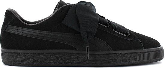 Puma Suede Heart EP 366922-01 Dames Sneaker Sportschoenen Schoenen Zwart - Maat EU 37 UK 4