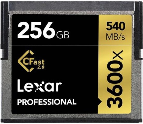 Lexar Professional CFast 2.0 kaart 256GB 3600x