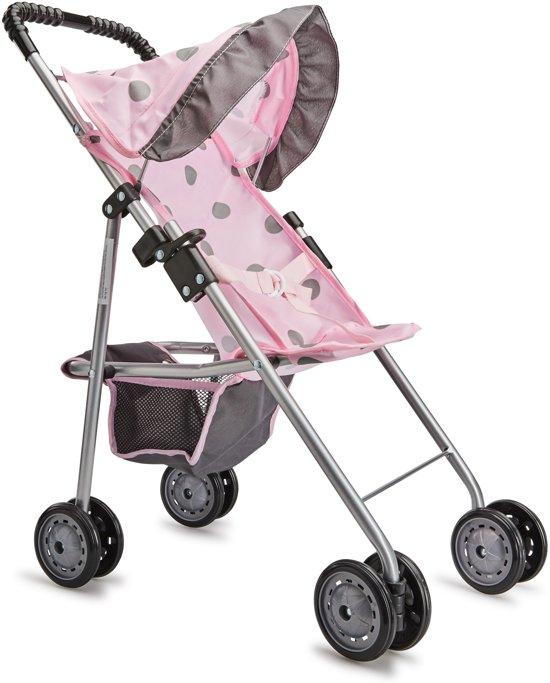 Baby Rose Poppenwagen met Zonnescherm - Inklapbaar