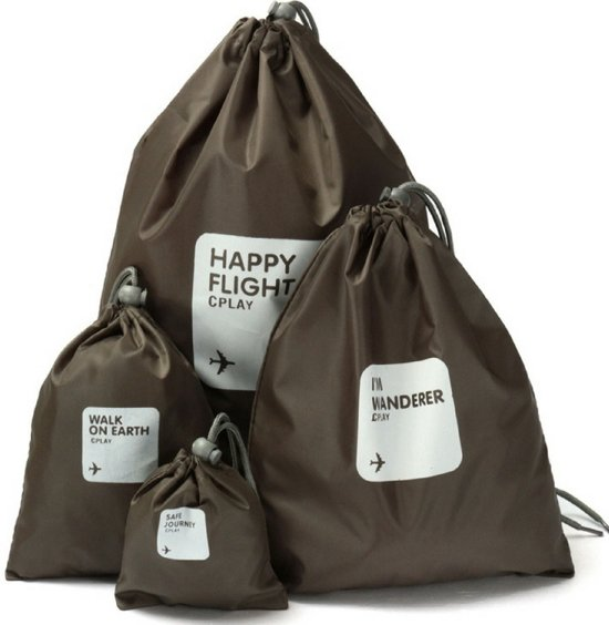 Packing Cubes Set (4-stuks) – Koffer Organizer – Bagage Organiser - Travel Ordening – Op Reis met een Opgeruimde Koffer – Kledingtas – Zwart