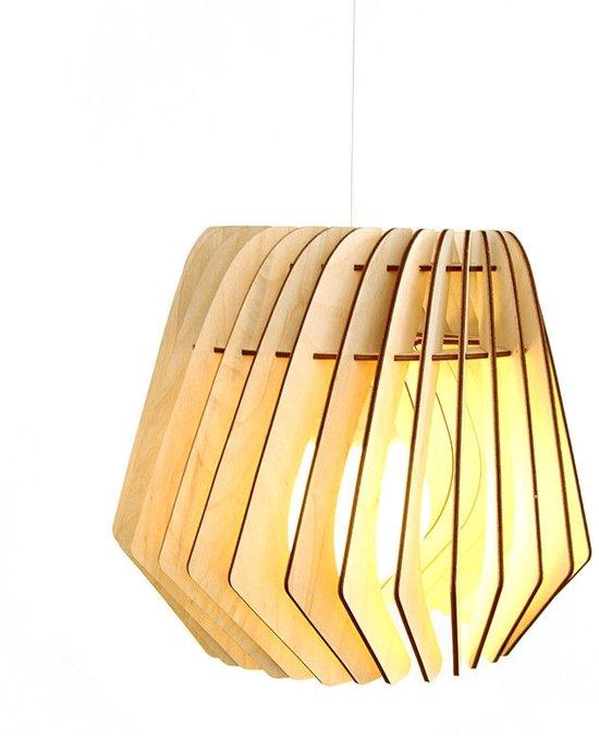 Zeer bol.com | Bomerango Kurk Spin lampenkap - Hout - Medium Ø 36 cm EI67