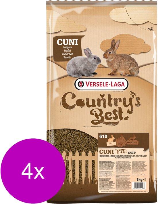 Versele-Laga Country`s Best Cuni Fit Pure - Konijnenkorrel - Konijnenvoer - 4 x 5 kg