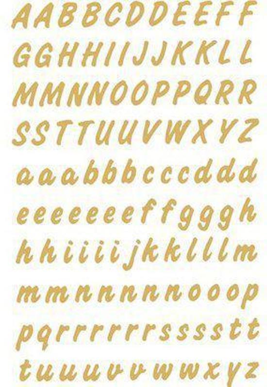 Huismerk Herma 4152 Etiket met letters A-Z 8mm Goud-Transparant