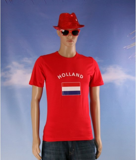Rood t-shirt vlag Holland S