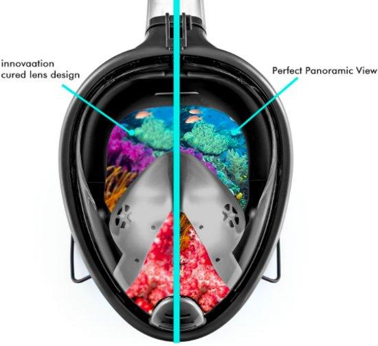 805a51cb154517 ... Snorkelmasker Snorkel Set met connectie voor GoPro   Eken   Nikei    Denver – Duikbril L ...