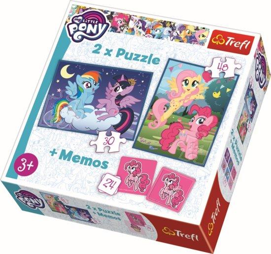 2 in 1 puzzel + geheugenspel - My Little Pony Legpuzzel