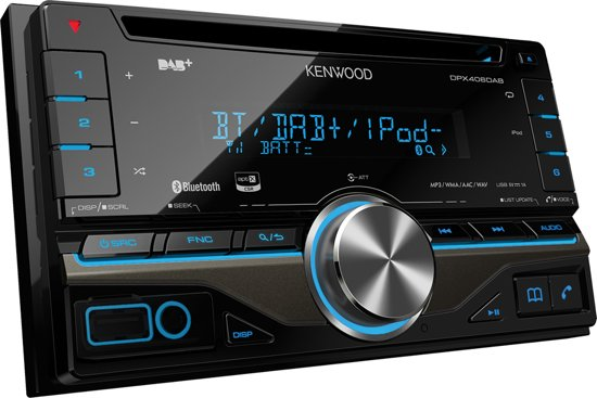 kenwood dpx406dab autoradio dubbel din usb. Black Bedroom Furniture Sets. Home Design Ideas