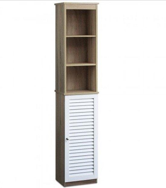 bol.com | Badkamerkast met 6 planken 34 x 26 x 170 cm