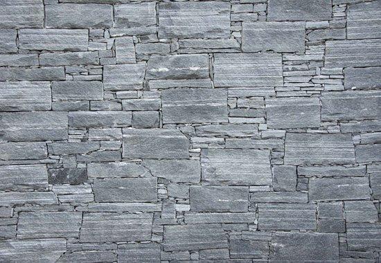 Fotobehang Grey Stones|V8 - 368cm x 254cm|Premium Non-Woven Vlies 130gsm