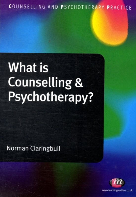 an overview of counseling and psychotherapy
