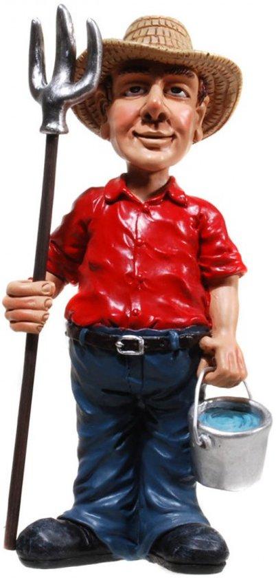 Boer - agrarier - beeldje – beroepen – funny jobs – warren stratford – 8.5x6.5x17.5 cm
