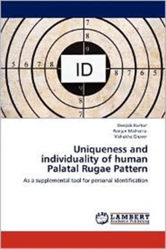 Boek cover Uniqueness and Individuality of Human Palatal Rugae Pattern van Dr Deepak Kumar (Paperback)