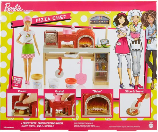Barbie Pizzabakker Speelset