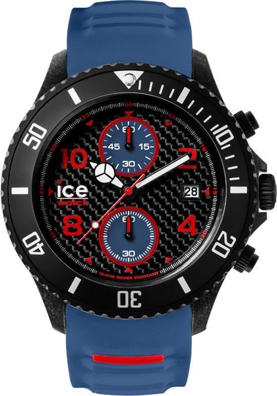 Ice-Watch ICE Carbon IW001317 Polshorloge - Siliconen - Blauw - Ø52mm