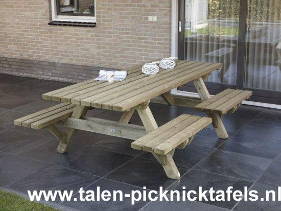 Van Talen - Picknicktafel met open instap - Vuren - 230 cm