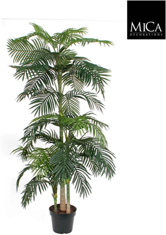 Mica Decorations areca palm h240d130 groen in pot