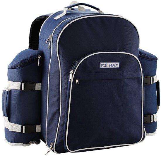 330038c88e3 bol.com | ICEMAX PICKNICK RUGTAS – Met Picknickset voor 6 Personen