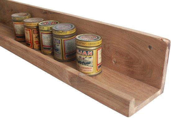 Plank Met Opstaande Rand.Raw Materials Elements Wandplank 75cm Gerecycled Hout
