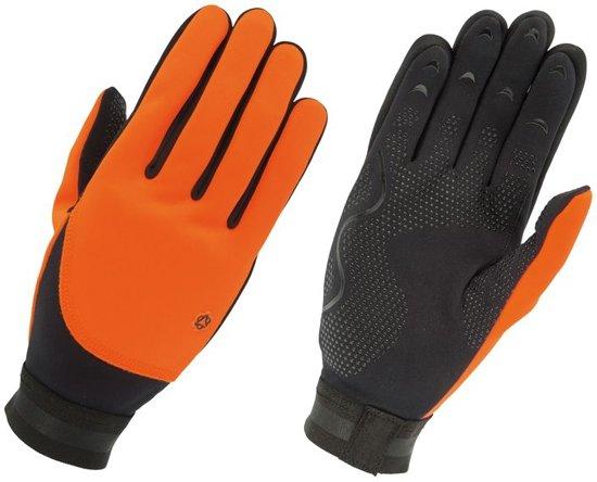 AGU Fleece Liner Fietshandschoenen - Maat M - Zwart/Oranje
