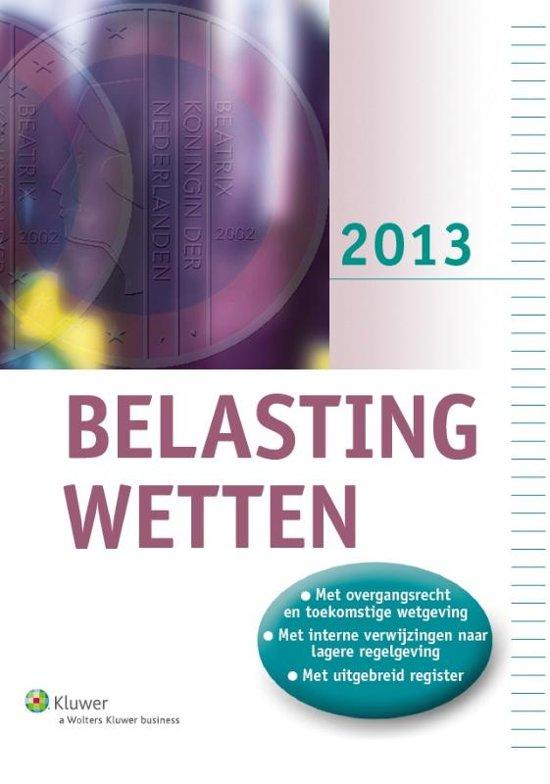 Belastingwetten (pocket-editie) / 2013