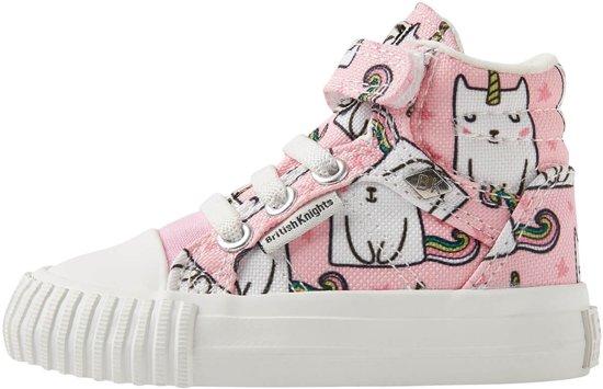 Kinderschoenen Met Lichtjes Maat 23.British Knights Dee Baby Meisjes Sneakers Hoog Licht Roze Maat