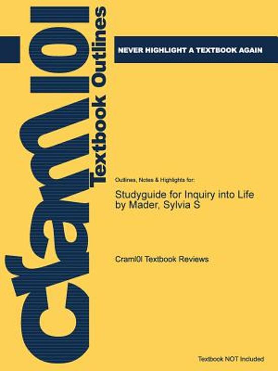 Studyguide for Inquiry Into Life by Mader, Sylvia S