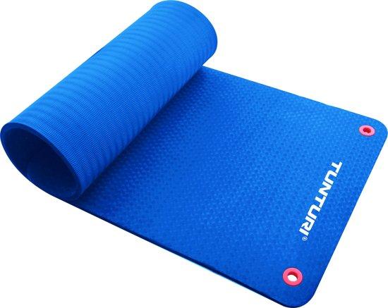 Tunturi Pro - Fitnessmat - 180 cm x 60 cm x 1,5 cm - Blauw