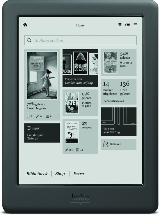 kobo touch 20 zwart e reader