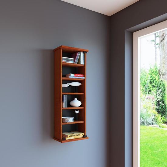 wandkast vakkenkast loposa met glazen deur kersen