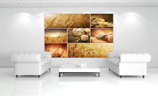 Fotobehang Papier Keuken, Landelijk | Bruin | 254x184cm