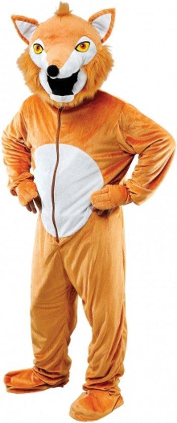 Pluche vos kostuum roodbruin M/l