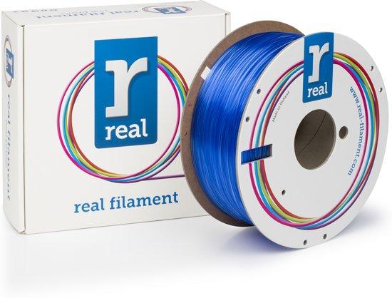 REAL Filament PETG transparant blauw 1.75mm (1kg)