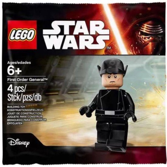 Star Wars First Order General Minifiguur (5004406) Polybag