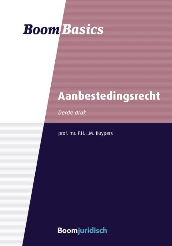 Boek cover Boom Basics - Boom basics aanbestedingsrecht van Pieter Kuypers (Paperback)