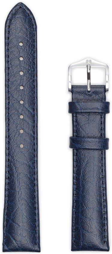 Hirsch Horlogeband -  Highland Donkerblauw - Leer - 22mm