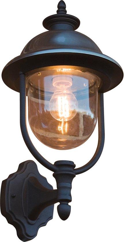 Konstsmide Parma - Wandlamp opwaarts 43cm - 230V - E27 - matzwart/RVS