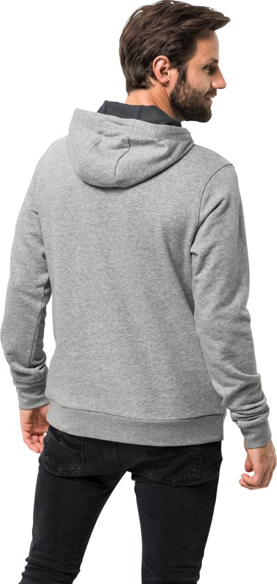 Heren Trui Light Grey Wolfskin M Slogan Hoody Jack Twxz47qF