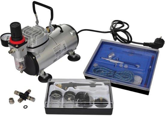 bol com   vidaXL   140283 Compressor   Airbrush set met 2 spuitpistolen
