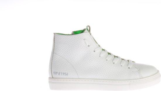 dbe03314470 bol.com   Hoge Witte HIP H1075 Sneaker Met Groen