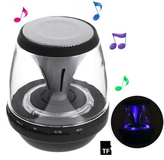 bol.com | Draadloze speaker bluetooth met LED verlichting 3 W