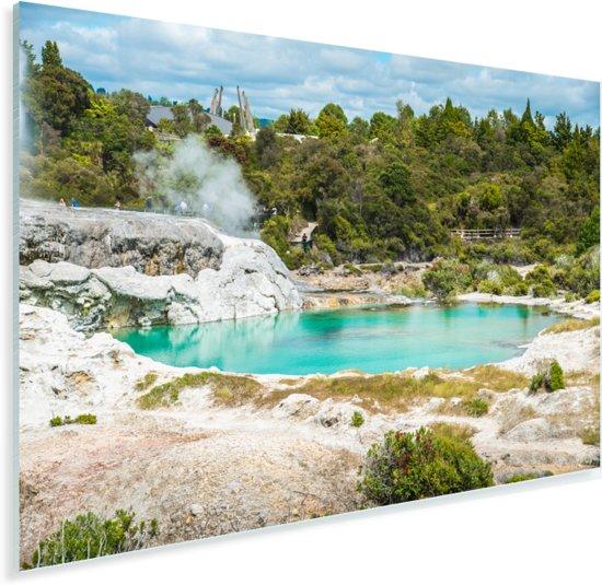 De Nieuw-Zeelandse Whakarewarewan vallei Plexiglas 180x120 cm - Foto print op Glas (Plexiglas wanddecoratie) XXL / Groot formaat!
