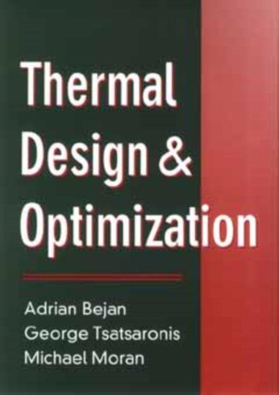 bol com | Thermal Design and Optimization, Adrian Bejan