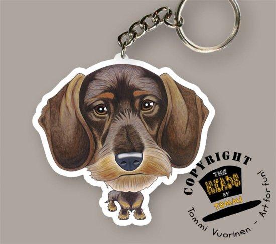 Sleutelhanger Hond Draadharige Teckel
